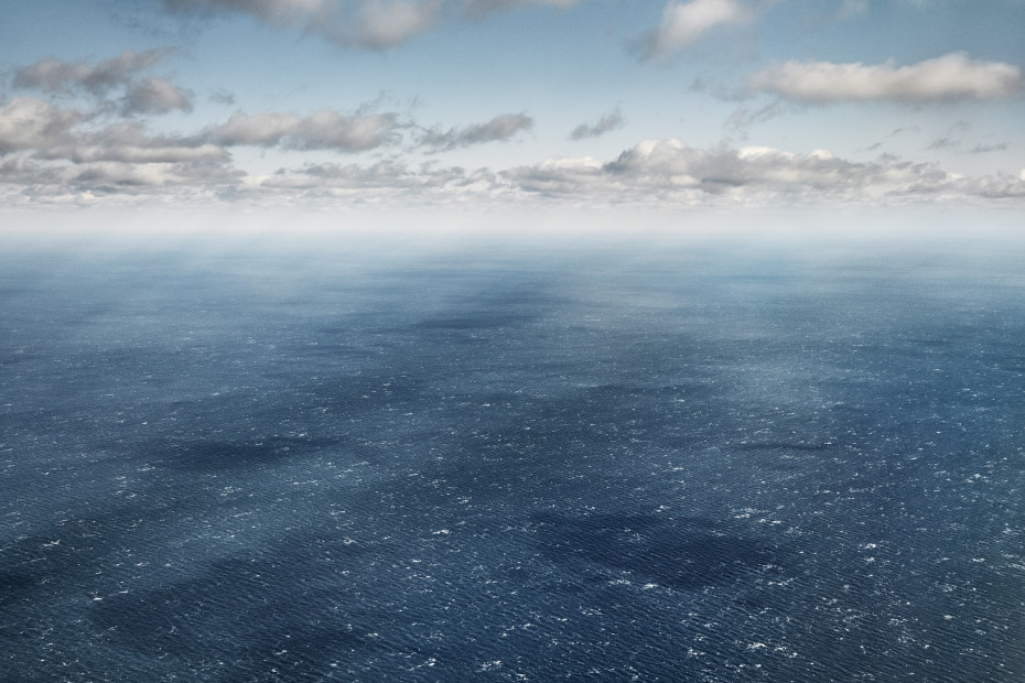 Scott Mead  LHR-BOS 11/21/2014 16:37:28  Choppy seas, windswept clouds, Irish coasts  Copyright The Artist