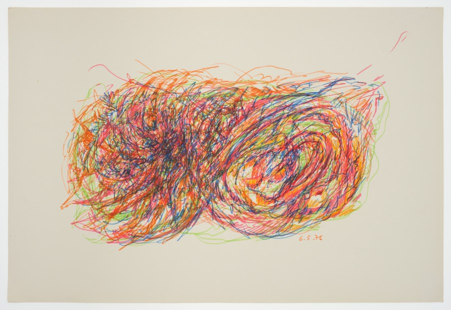 Margaret Raspé, Automatic Drawing 6, 1976