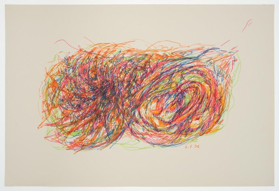 Margaret Raspé, Automatic Drawing 6, 1976