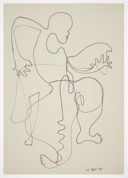 Margaret Raspé, Automatic Drawing 2, 1974