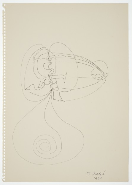 Margaret Raspé, Automatic Drawing 13, 1980