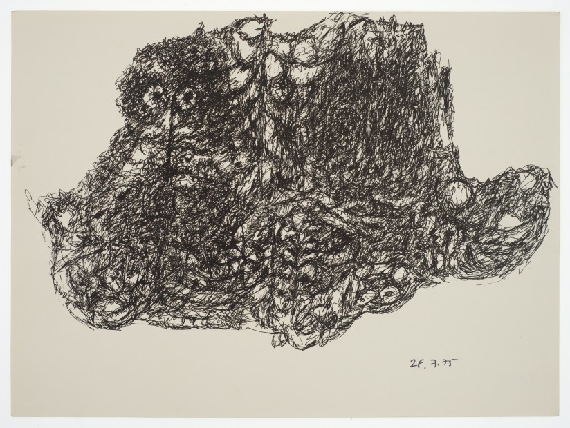 Margaret Raspé, Automatic Drawing 4, 1975