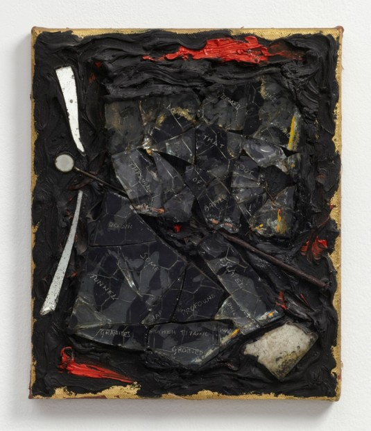 Afterlife, 1986 Oil and mixed media on canvas 31.5 x 26 x 3.5 cm