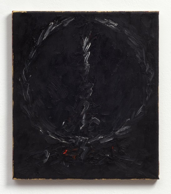 Untitled (Wreath), 1983 Oil and mixed media on canvas 41.2 x 35.7 x 2 cm