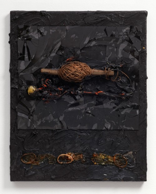 Untitled (Rope/Bale of String), 1986 Oil and mixed media on canvas 51.3 x 41.5 x 5.5 cm