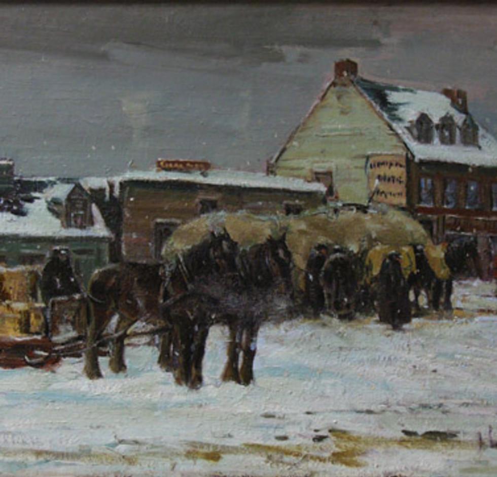 Franklin Brownell, R.C.A., Winter Afternoon, The Hay Market, Ottawa - Après-midi d'hiver, le marché, Ottawa