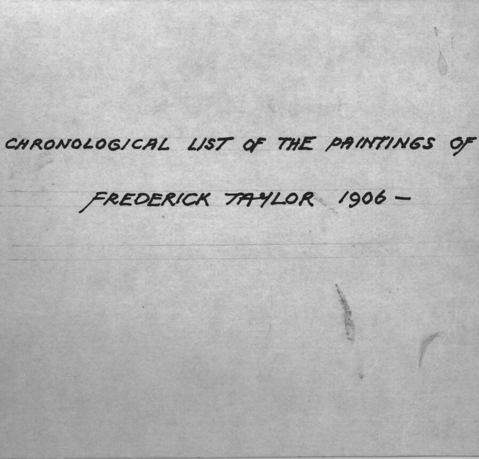 Frederick Taylor Inventory Project