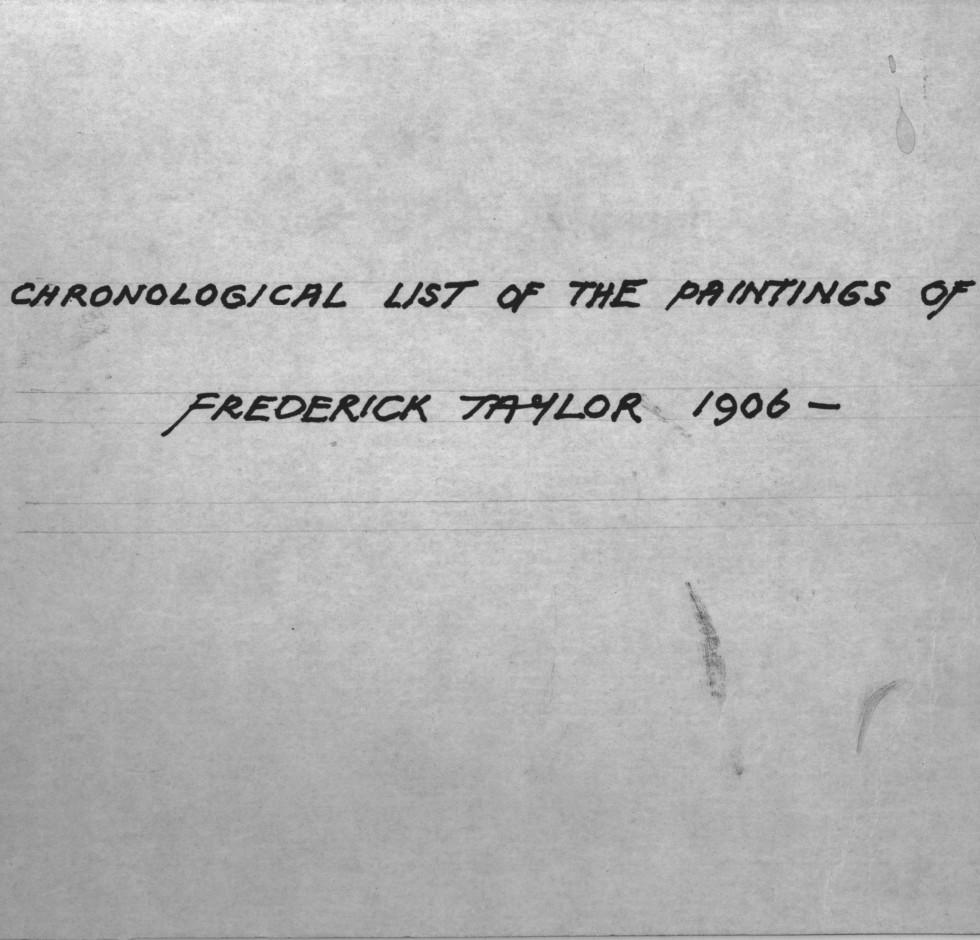 Le Répertoire Frederick Taylor