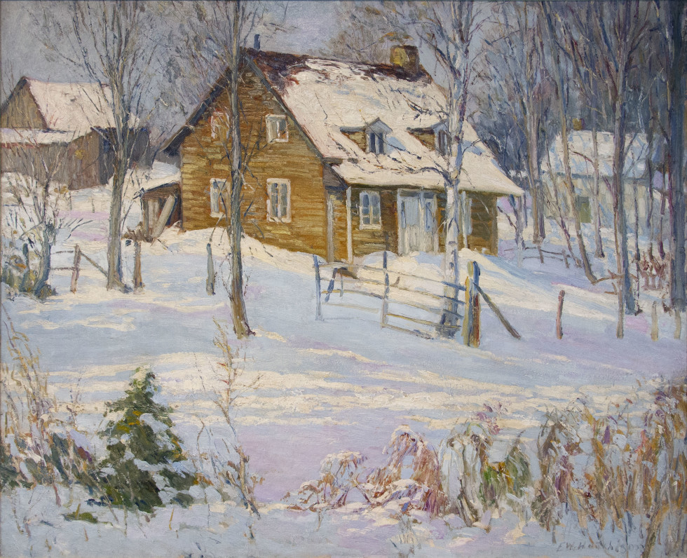 Frederick W. Hutchison, R.C.A., Winter Scene, Hudson Heights, Quebec, 1939 Oil on canvas - Huile sur toile 30 x 36 in 76.2 x 91.4 cm