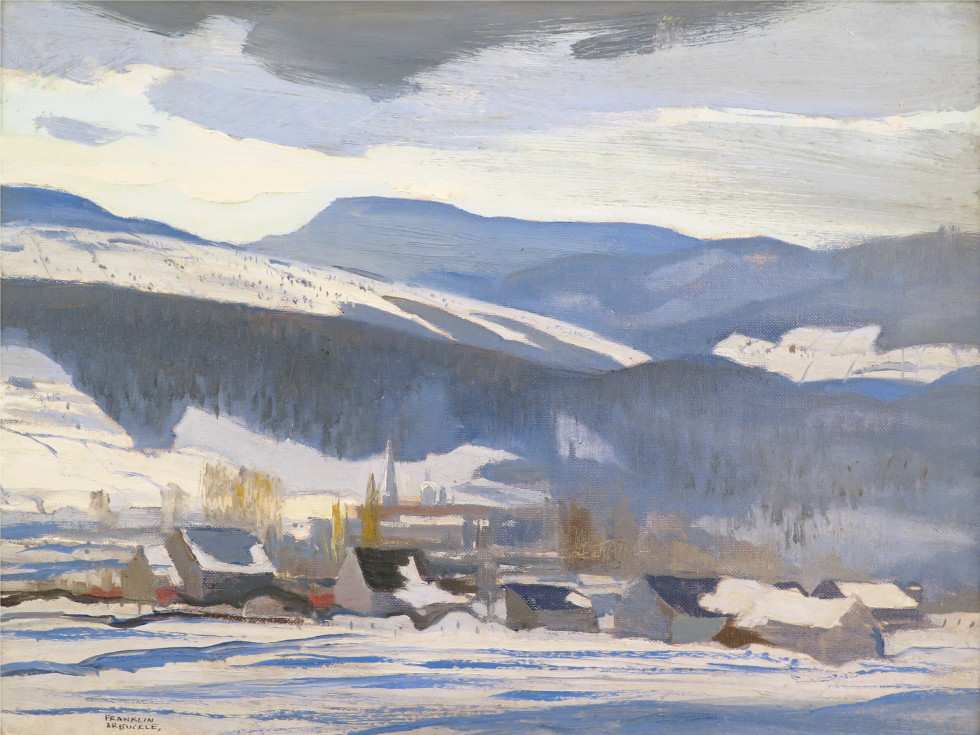 Franklin Arbuckle, R.C.A., Baie St. Paul, 1955 (circa) Oil on canvas board - Huile sur toile marouflée sur carton 11 1/2 x 15 1/2 in 29.2 x 39.4 cm