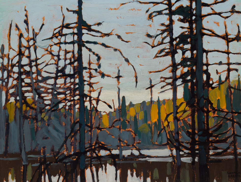 Lawren S. Harris, C.C., LL.D., Algoma (Beaver Swamp), 1920 Oil on wood - Huile sur bois 10 x 14 in 25.4 x 35.6 cm