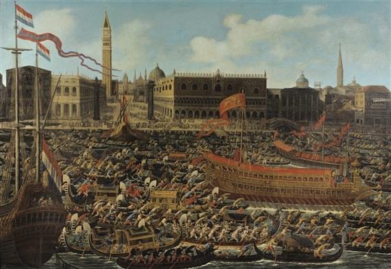 Matteo Stom  Le bassin San Marco le jour de l'Ascension