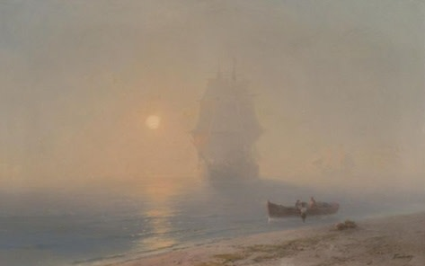 IVAN KONSTANTINOVICH AIVAZOVSKY  Sailing Through the Haze