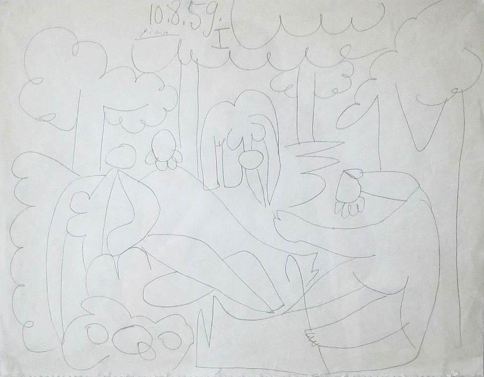 Pablo Picasso  Étude pour La suite des déjeuners, Aug. 10, 1959