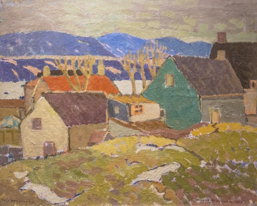 Albert H. Robinson, R.C.A., Snow Scene, Bienville, 1922
