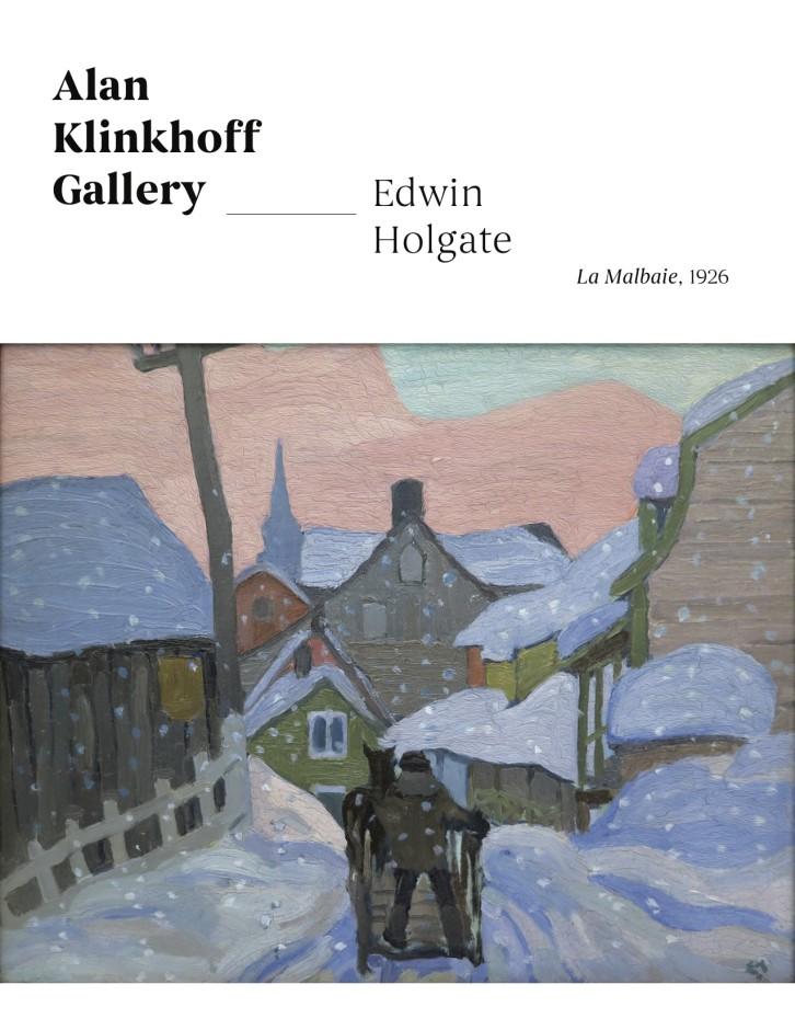 """Oil painting and pencil drawing by Edwin Holgate """"signature achievements"""" of his 1926 trip to La Malbaie"""