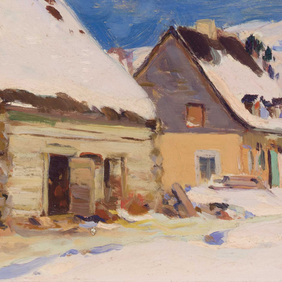Ferme du rang Saint-Laurent, Baie Saint-Paul-Clarence A. Gagnon