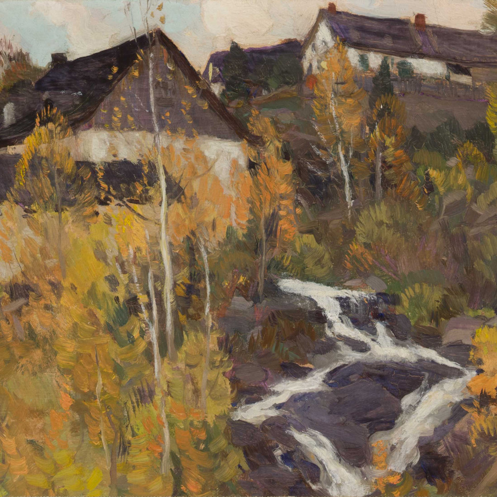 The Old Mill or Automne dans Charlevoix-Clarence A. Gagnon