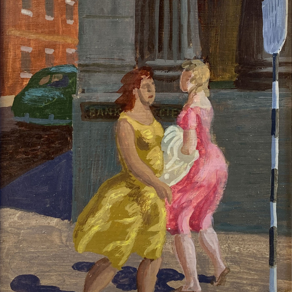 Women Walking, St. Jacques Street, Montreal-Philip Surrey
