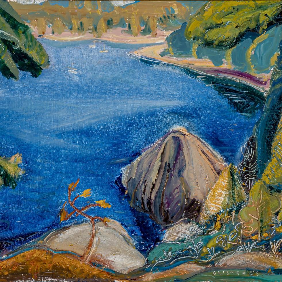 On Pender Island, East Coast of Vancouver Island, BC-Arthur Lismer