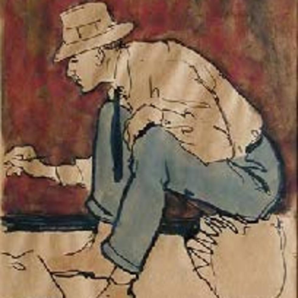 John Young Johnstone at Work, Sainte-Anne-de-Beaupré - John Young Johnstone à l'œvre, Sainte-Anne-de-Beaupré-Edwin Holgate, R.C.A.