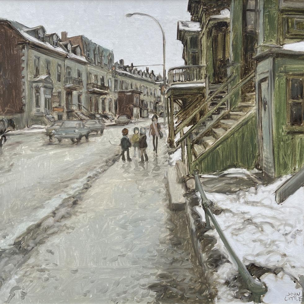 St. Antoine Street at Fulford, St. Henri, Montreal-John Little