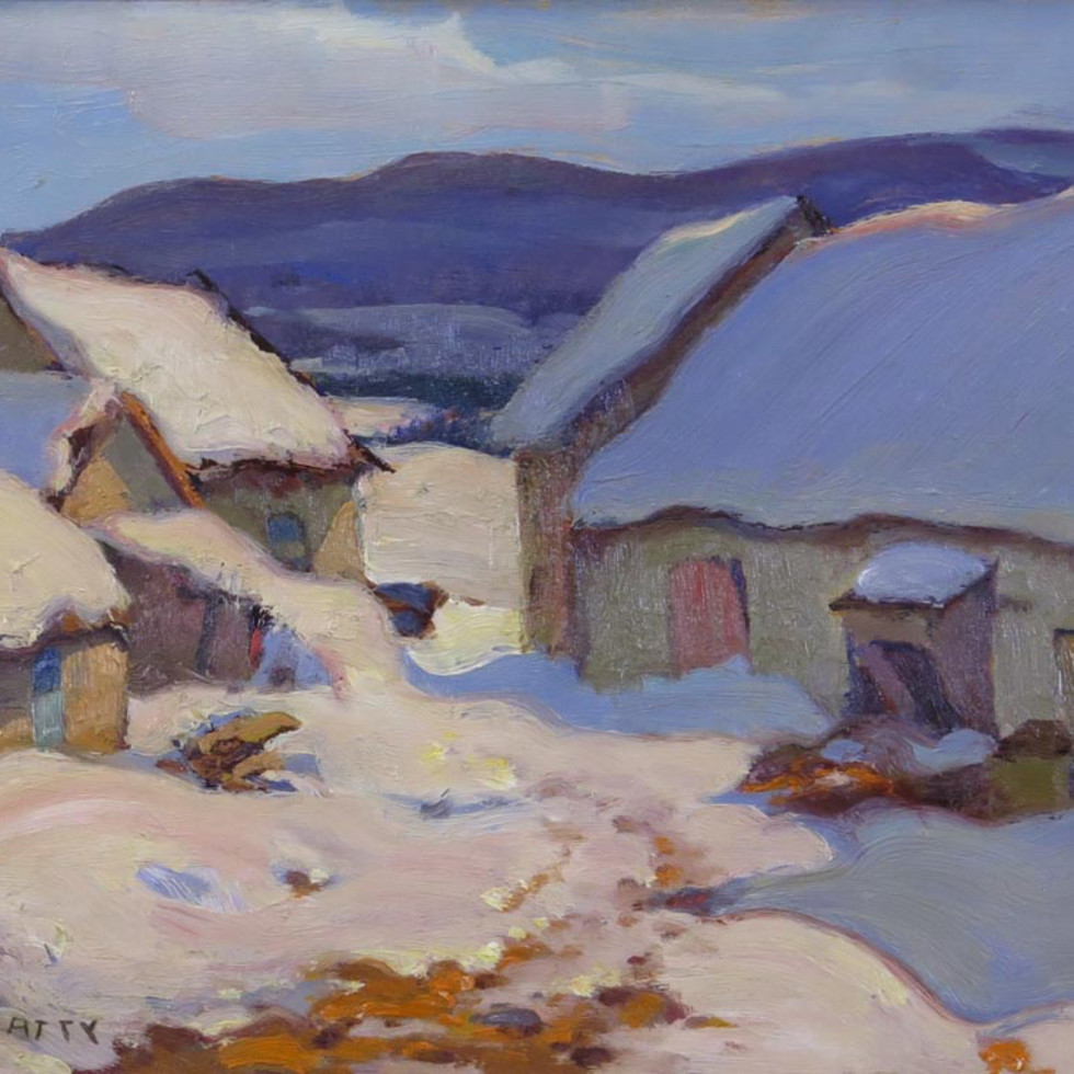 Barn Yard, Baie St. Paul - La basse-cour, Baie St-Paul-John William (J.W.) Beatty, R.C.A.