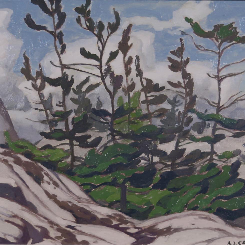 Jack Pine-Picnic Island, McGregor Bay-A.J. Casson, C.M., O.Ont., LL.D., R.C.A.