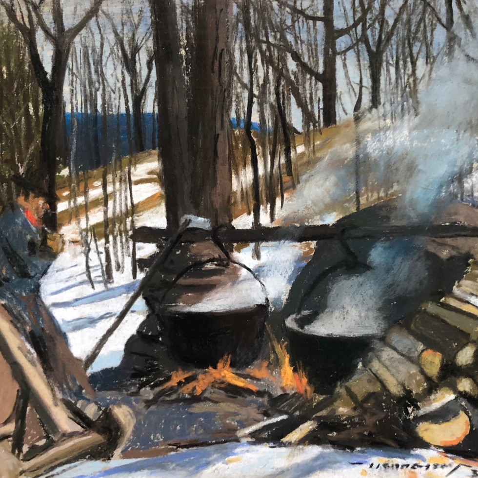 Canteen, Woodcutting Camp-Frank Hennessey, R.C.A., O.S.A.