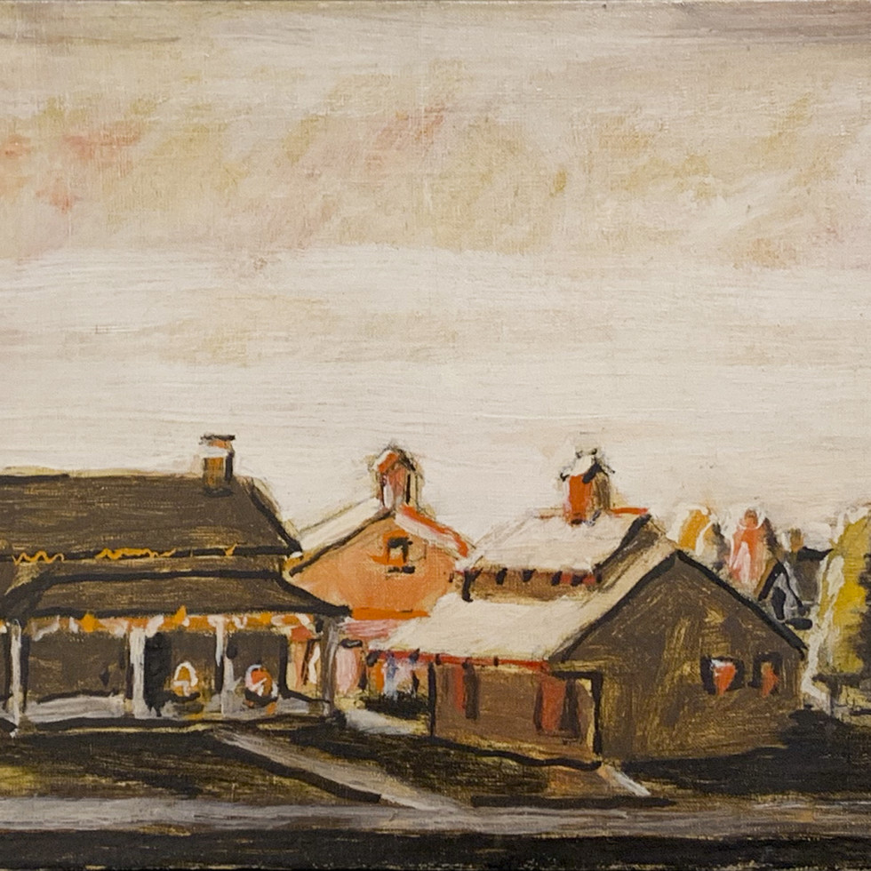 Houses, Uxbridge Ontario-David Milne
