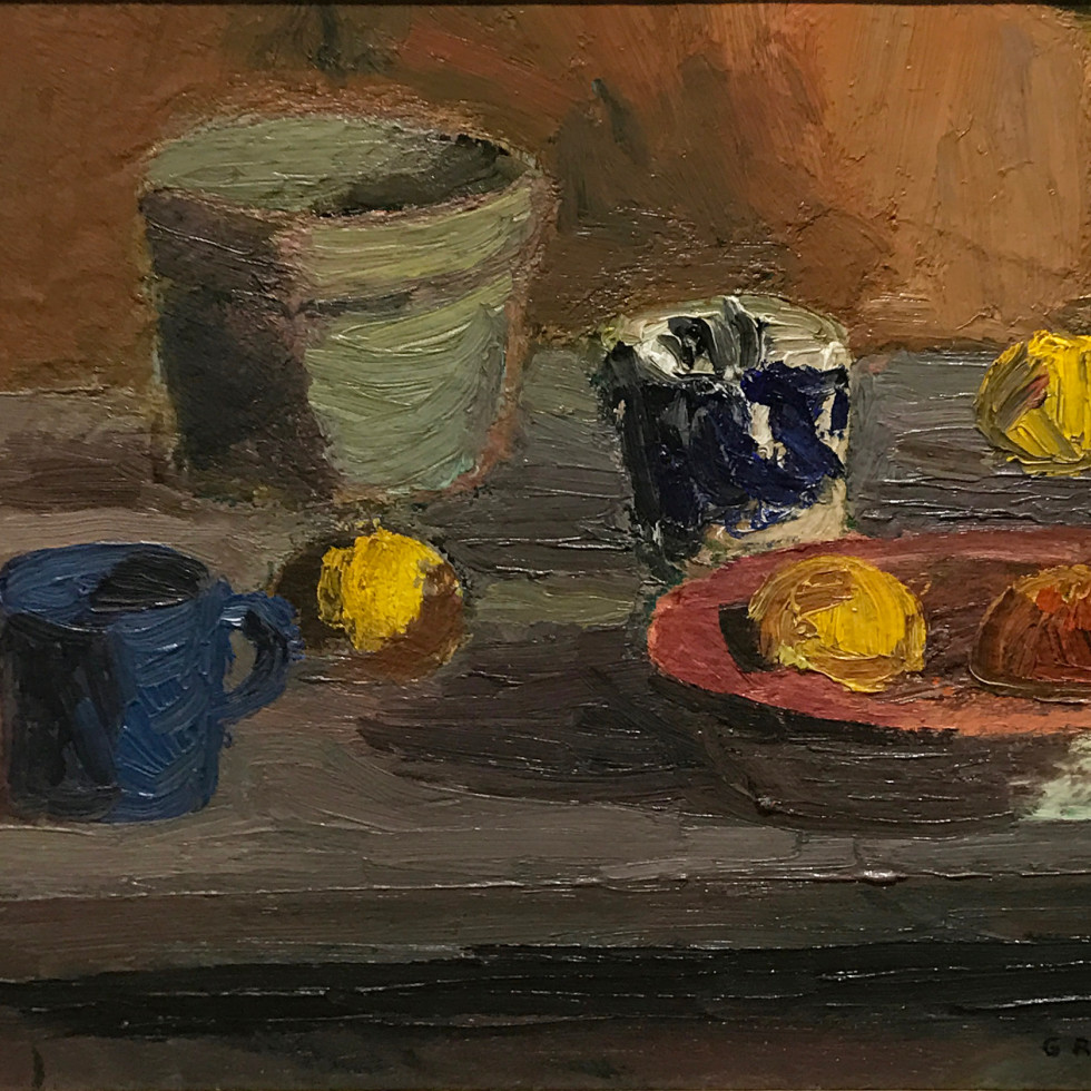 Still Life with Cup and Fruit-Goodridge Roberts, LL.D, R.C.A., O.S.A.