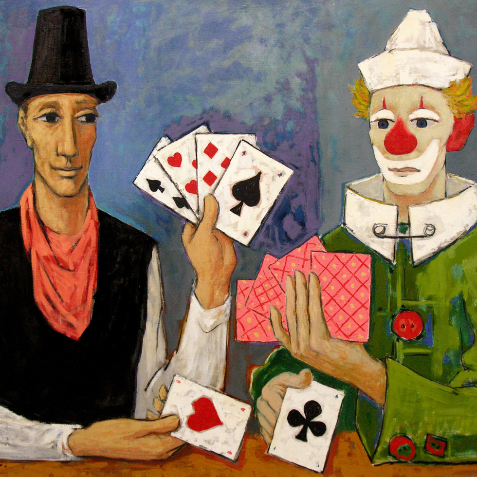 Saltimbanques joueurs de cartes-Paul Vanier Beaulieu, R.C.A.