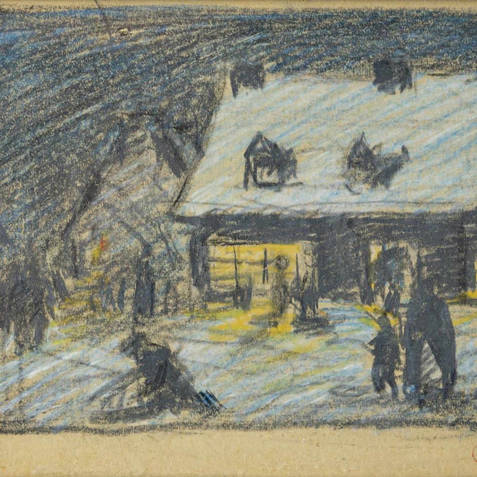 Scène de Baie Saint-Paul-Clarence A. Gagnon
