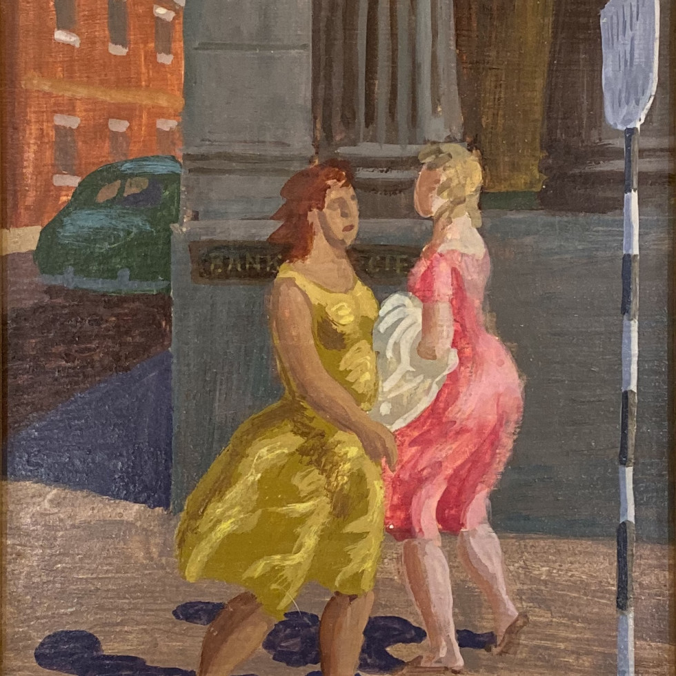 Women Walking, St. Jacques Street, Montreal-Philip Surrey, C.M., LL.D., R.C.A.