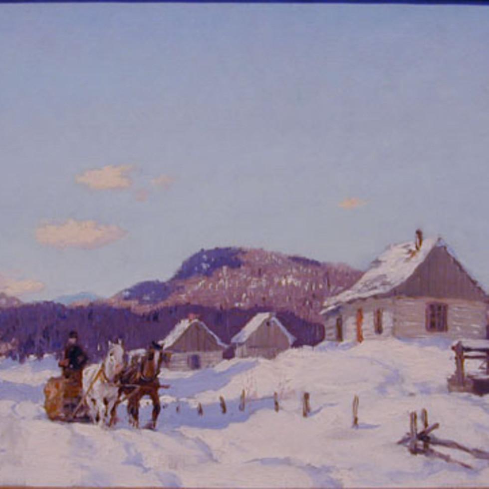 Logging, Eastern Townships - Le transport des billots, Cantons de l'Est-Frederick Simpson Coburn, R.C.A.