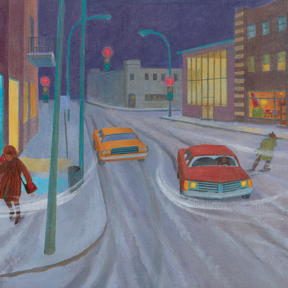 Winter Street Scene-Philip Surrey