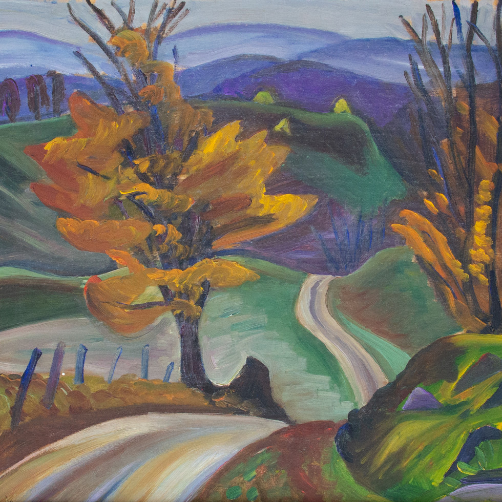 Autumn Road in Knowlton-Prudence Heward