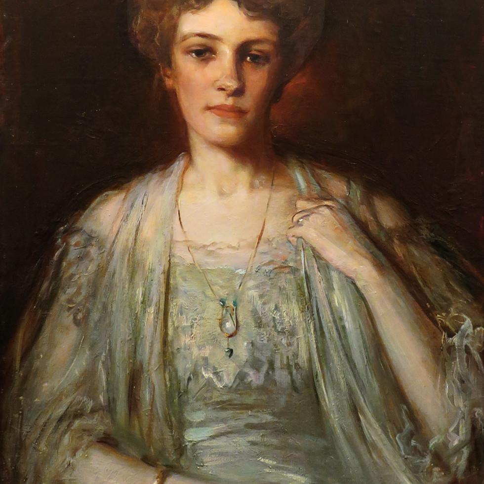 Portait of Elsie Kemp (née Blackader)-Laura Adeline Muntz Lyall, O.S.A., A.R.C.A.