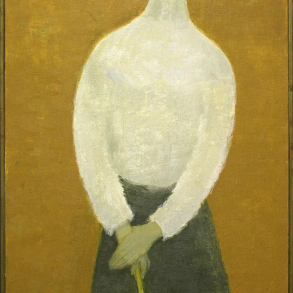 Miss Knight (Woman with Umbrella), 1912 - Mlle Knight (femme au parapluie) 1912-Jean Paul Lemieux, C.C., G.O.Q., R.C.A.