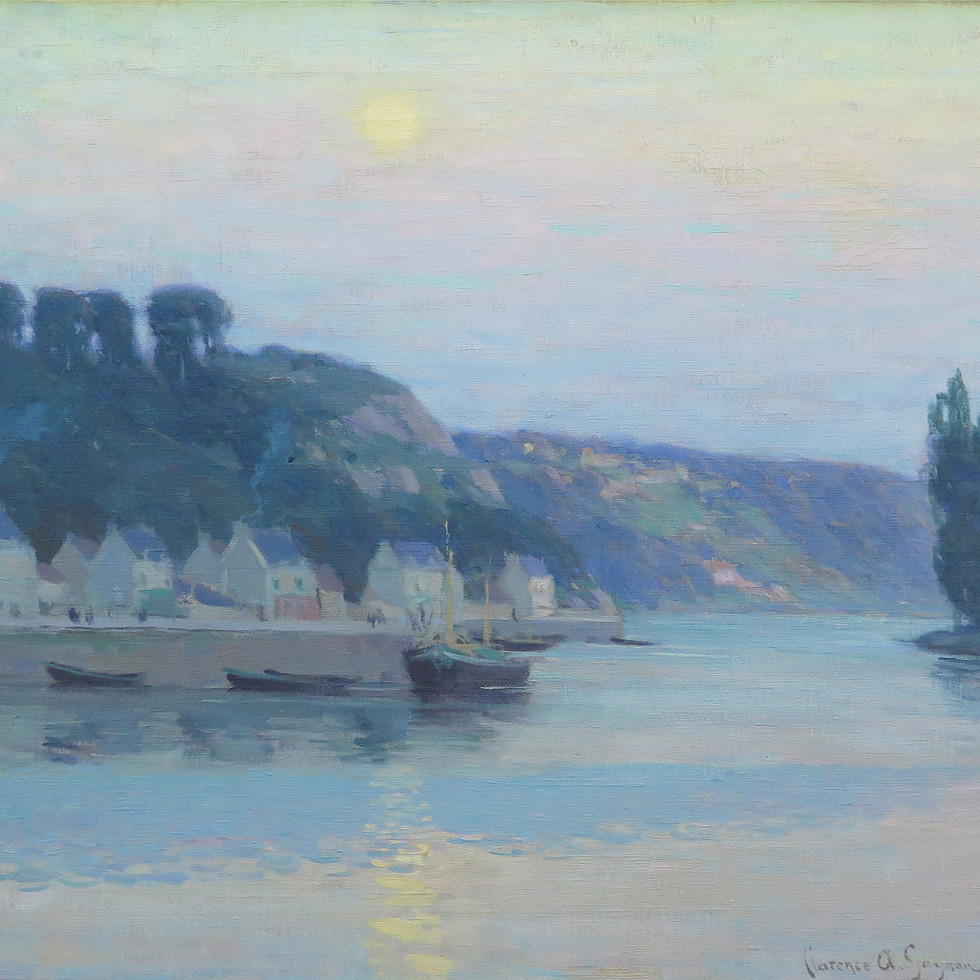 Early Moonrise on the River Rance-Clarence A. Gagnon, R.C.A.