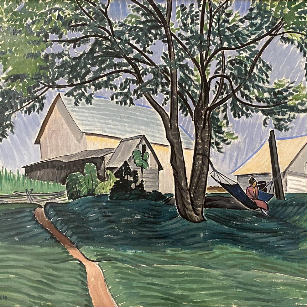The Hammock Under the Tree (Dalesville, Quebec)-John Lyman