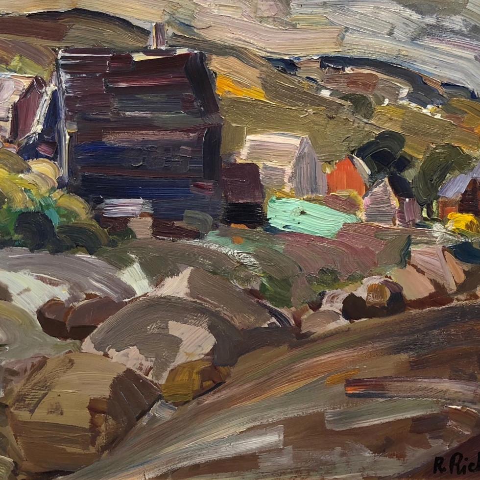 Paysage (Baie Saint-Paul)-René Richard