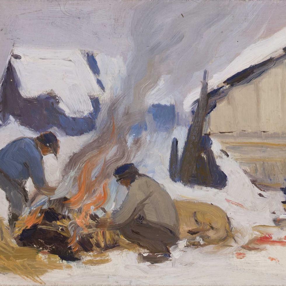 Jour de boucherie, Baie St. Paul-Clarence A. Gagnon