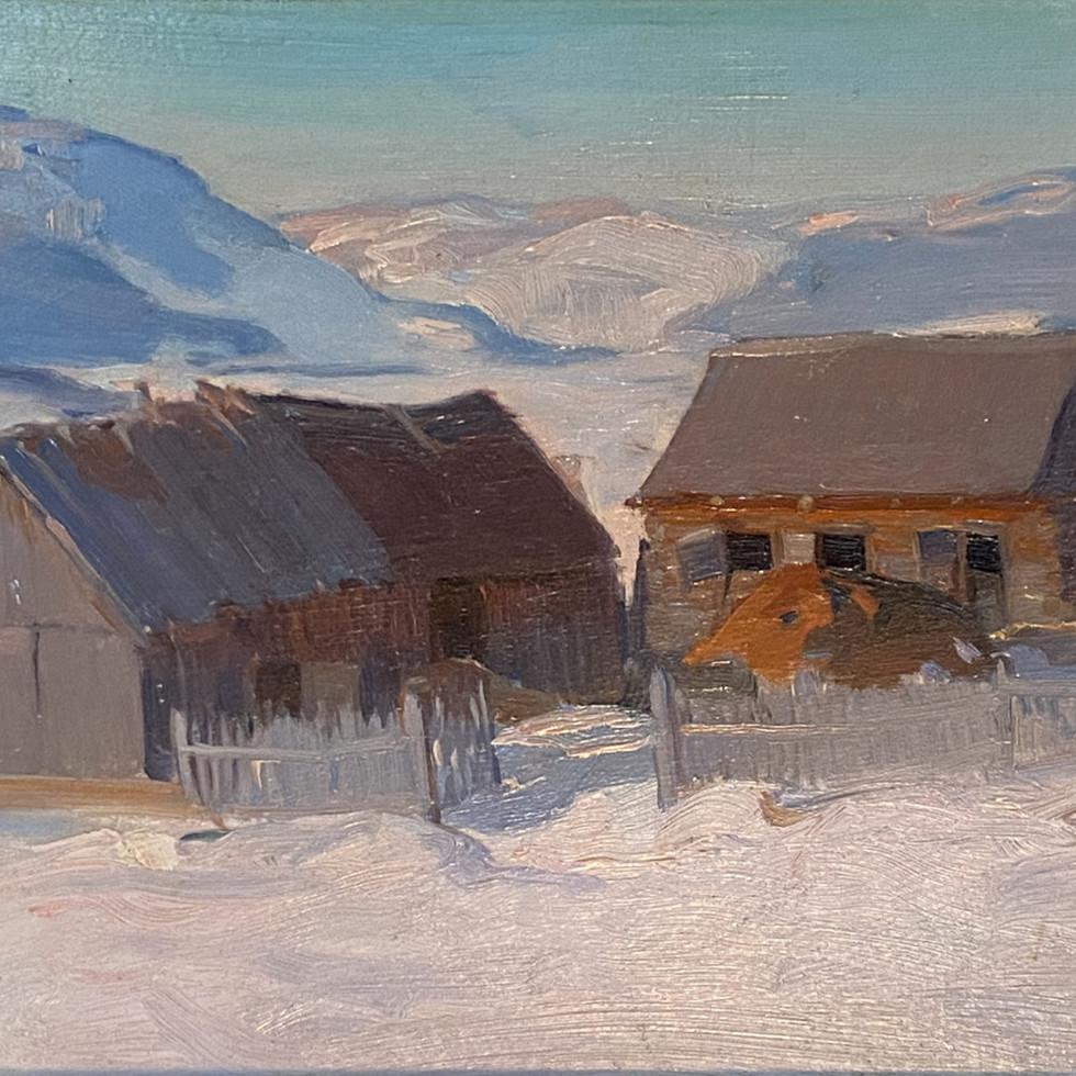 Dans la vallée du Gouffre (Baie St. Paul)-Clarence A. Gagnon