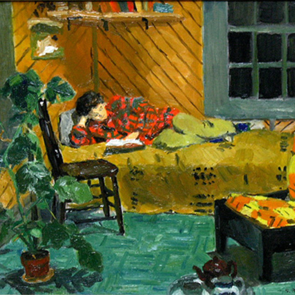 Interior, Calumet - Scène d'intérieure, Calumet-Goodridge Roberts, LL.D, R.C.A., O.S.A.