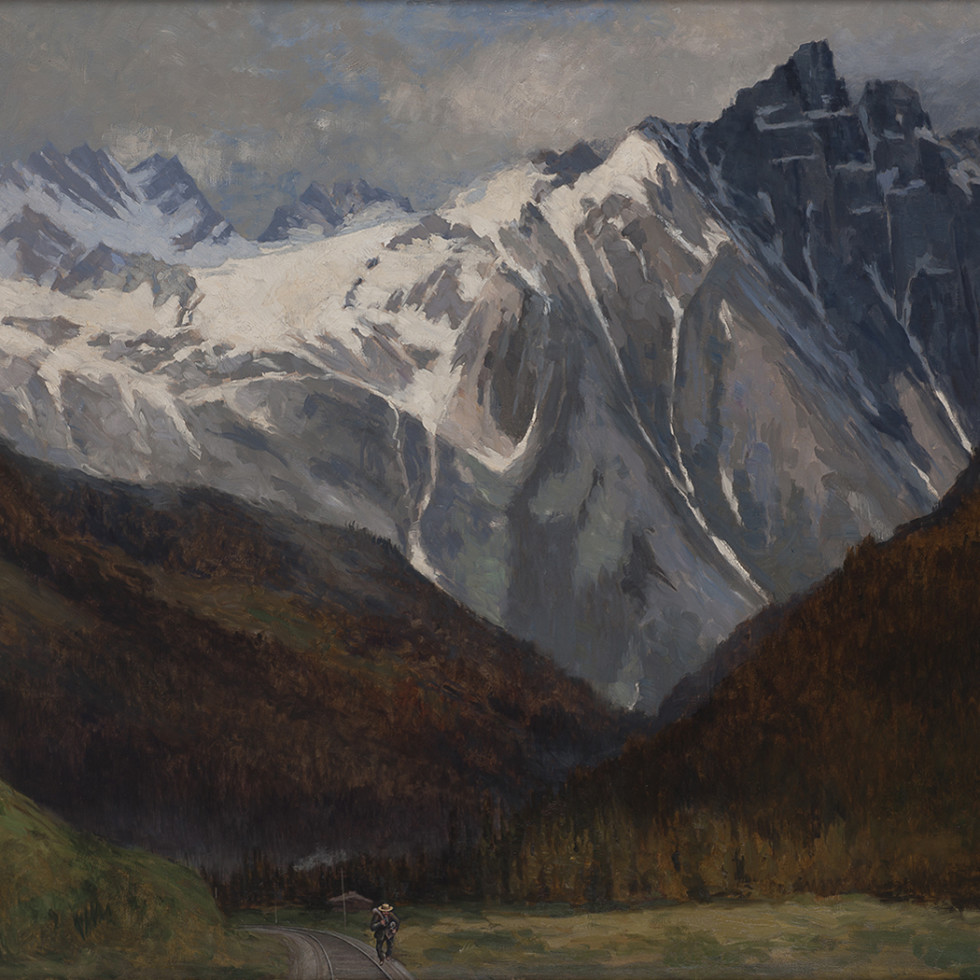 Hermit Mountain, Rogers Pass, Selkirk Range-William Brymner, C.M.G., P.R.C.A., O.S.A.