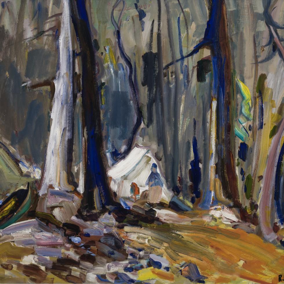Campement Indien dans les brûlés, nord ouest-René Richard