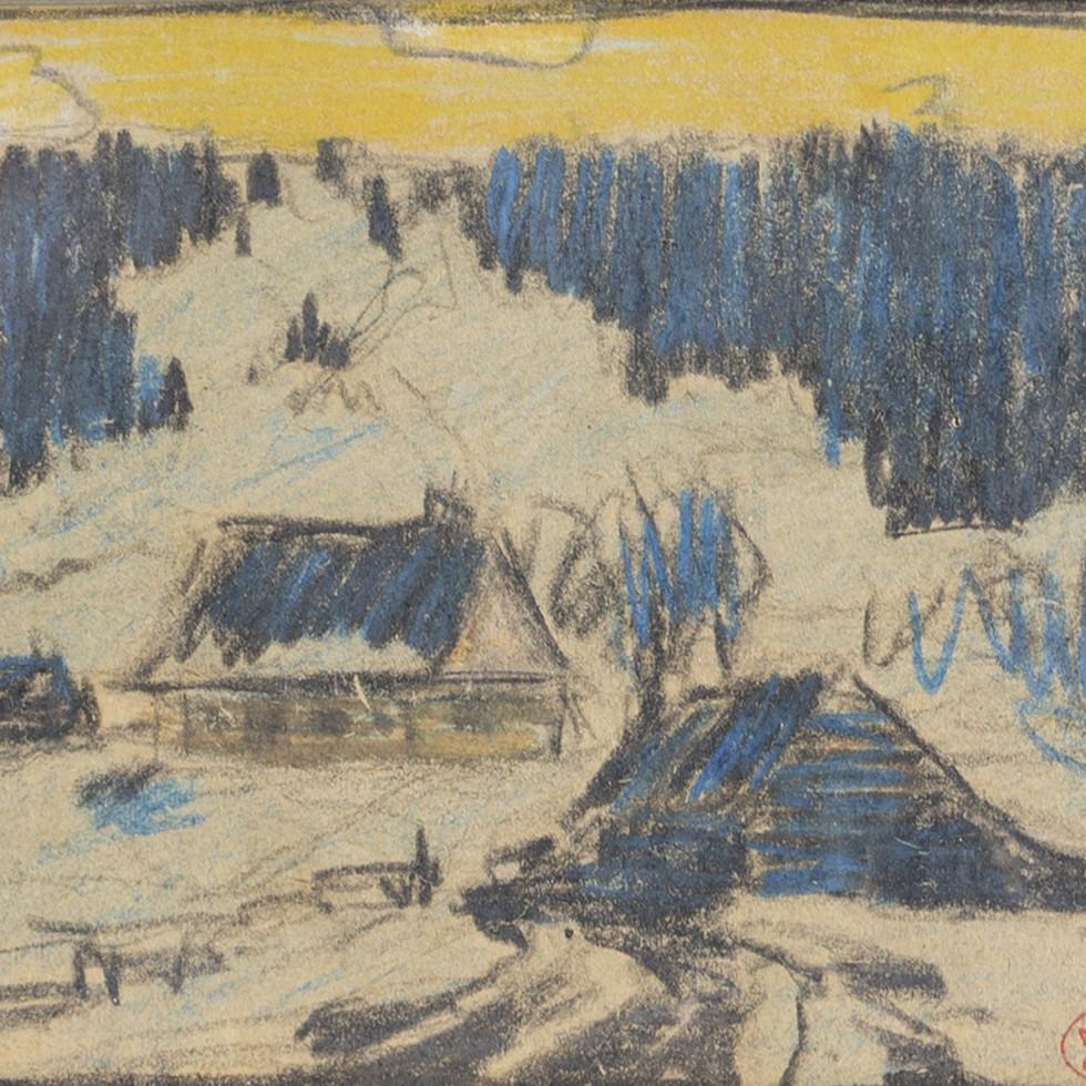 Paysage en Hiver, Baie St. Paul -Clarence A. Gagnon