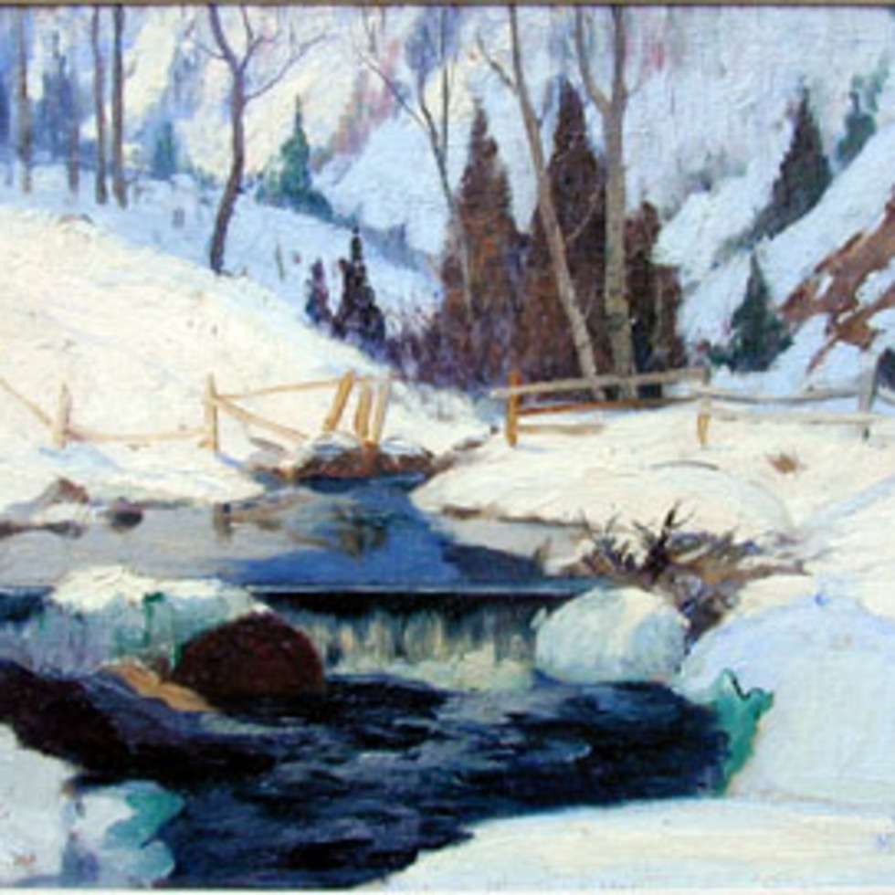 Winter on the Cache River-Maurice Cullen, R.C.A.