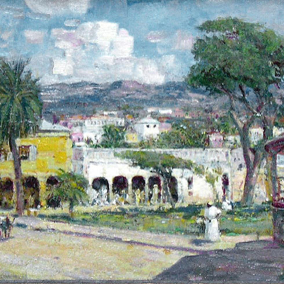 Village Scene, Puerto Rico - Village, Puerto Rico-Franklin Brownell, R.C.A.